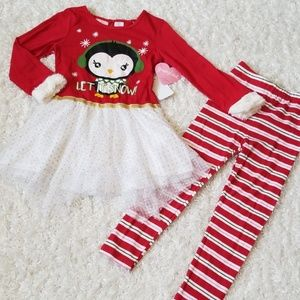 NWT Girl's Adorable Holiday Outfit Set